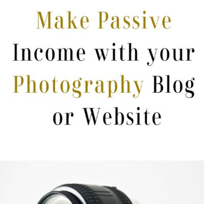 passive income with photography